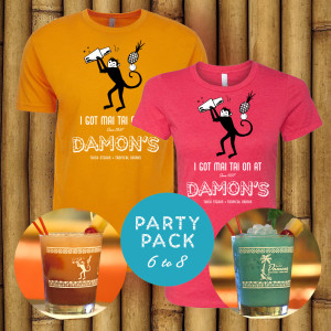 """Party Pack for 6 to 8""Cocktails, T-shirts & Glassesask for group pricing"