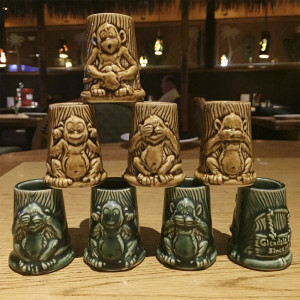 Stacking Shots by Thorset of four (green or brown)$49.99
